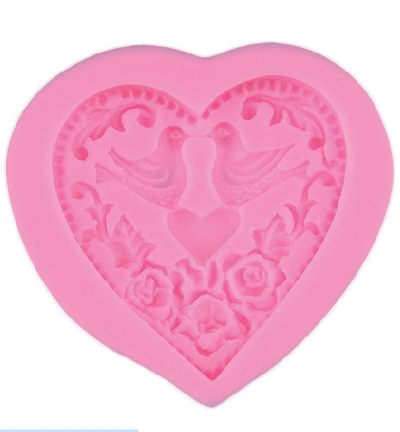 Stafil - Silicone Mold(mal) - Heart with Doves