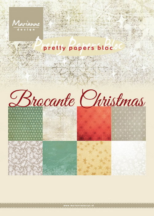 Marianne Design - Pretty Papers Bloc - Brocante Christmas