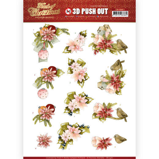 Precious Marieke - Push Out - Touch of Christmas - Pink Flowers