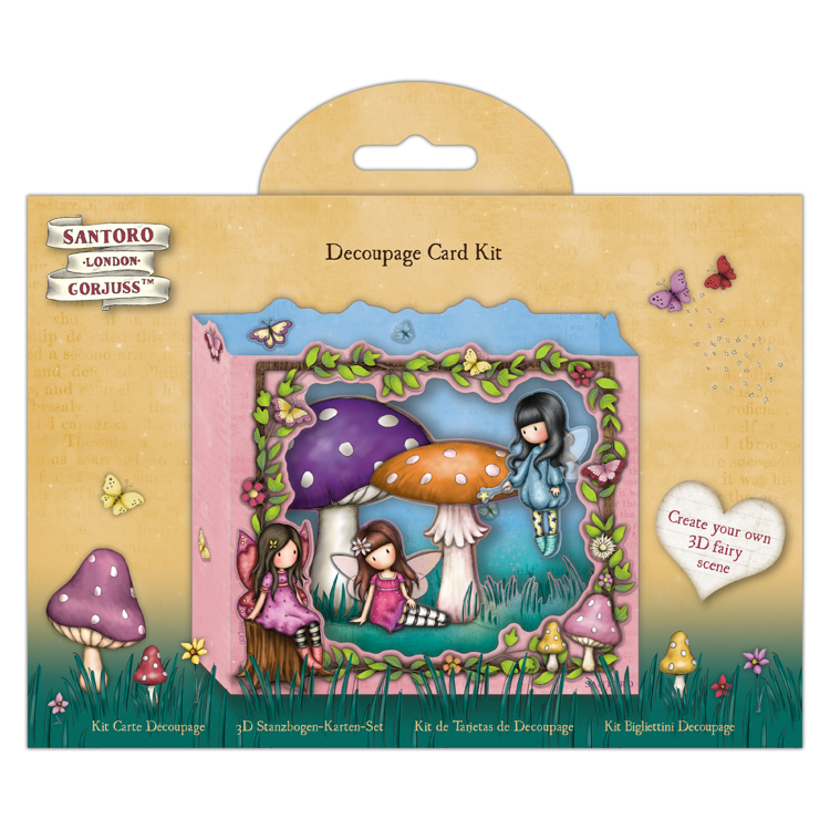 DoCrafts - Santoro`s Gorjuss - Decoupage Card Kit - Faerie Folk 2