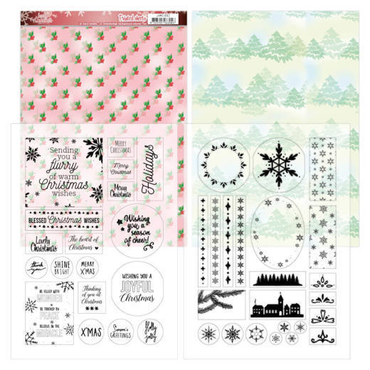 Jeanine's Art - Printed Sheets - Lovely Christmas