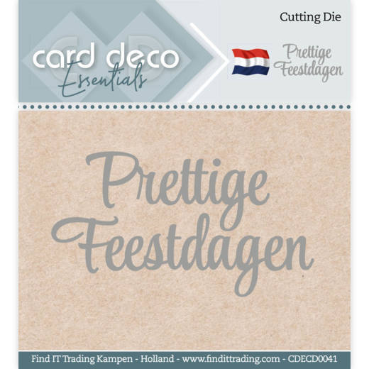 Card Deco - Die - Essentials - Prettige Feestdagen