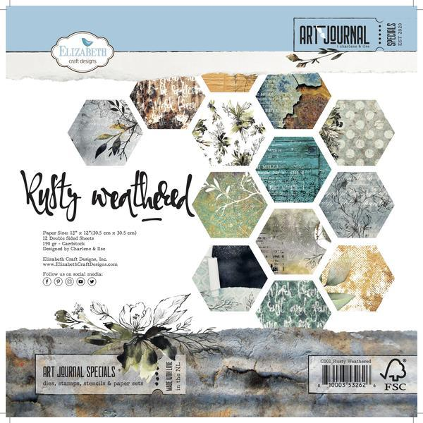 Elizabeth Craft Design - Paper Pad - Rusty Weathered