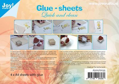 Joy!Crafts - Glue Sheets - A4 4vel