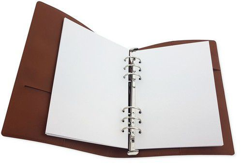 CraftEmotions - Ringband Planner - A5 - 14,8x21 cm - Cognac Brown