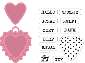 Marianne Design - Die - Collectables - Candy hearts NL