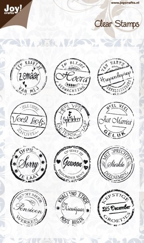 Joy!Crafts - Clear Stamps - Nederlandse teksten rond 1