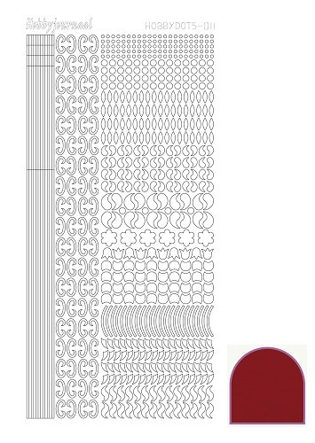 Hobbydots - Stickers - Serie 11 - Mirror - Rood