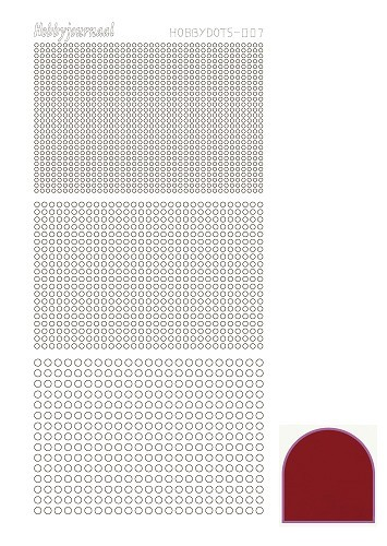 Hobbydots - Stickers - Serie 07 - Mirror - Rood