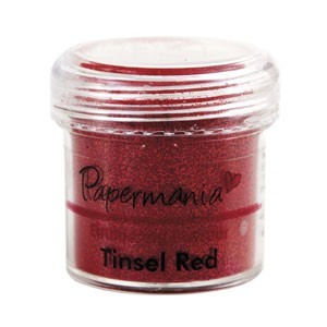 Papermania - Embossing poeder - Tinsel Red