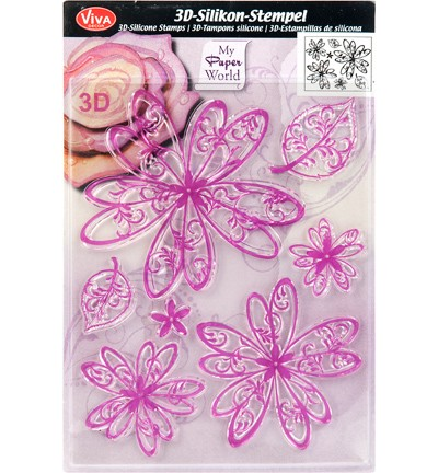 Viva Decor - Clear Stamps - 3D Bloem Fantasie Prinses
