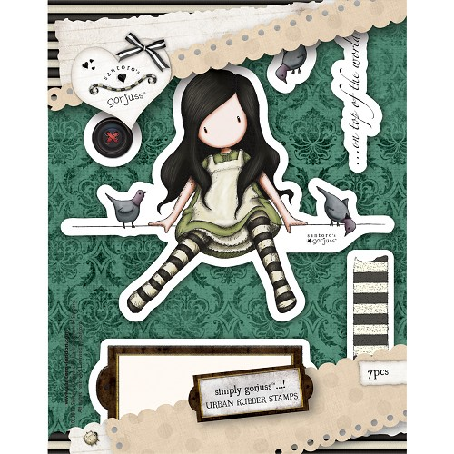 DoCrafts - Rubber Stamps - Santoro - Gorjuss - On Top Of The World