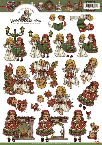 Yvonne Creations Kerst - Christmas time - Meisjes