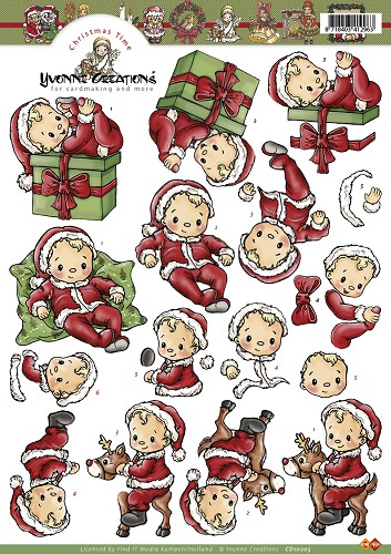 Yvonne Creations - Knipvel - Kerstbaby