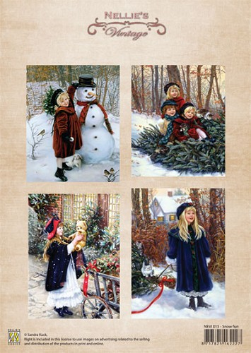 Nellie Snellen -  Vintage Kerst - Christmas colour vintage snow fun