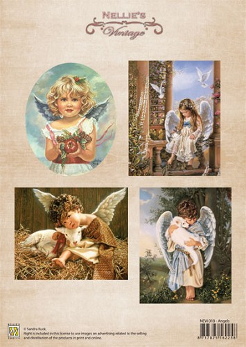 Nellie Snellen - Vintage Kerst - Christmas colour vintage Angels