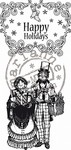 Marianne Design - Cling Stamp - Vintage Christmas - Happy Holiday