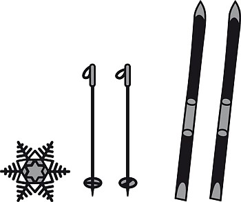 Marianne Design - Die - Craftables - Skis and Snowflake