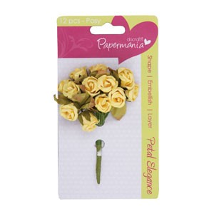petal posy (12pcs) - lemon rose