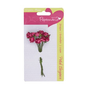 petal posy (12pcs) - deep pink rose