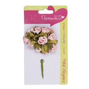 petal posy (12pcs) - pale pink rose