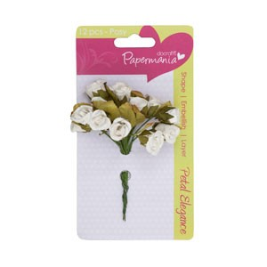 petal posy (12pcs) - white rose