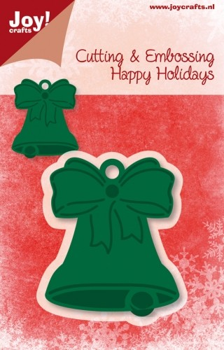 Joy!Crafts - Cutting & Embossing - stencil - Happy Holidays - Hanger Kerstklok