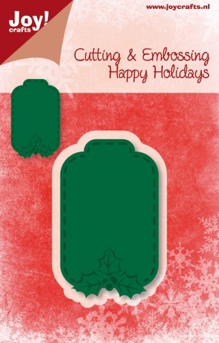 Joy!Crafts -Cutting & Embossing - stencil - Happy Holidays - Hanger Label