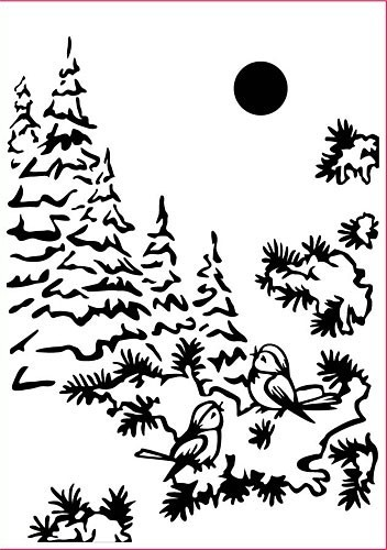 Nellie Snellen - Embossing Folder Christmas Snowbirds