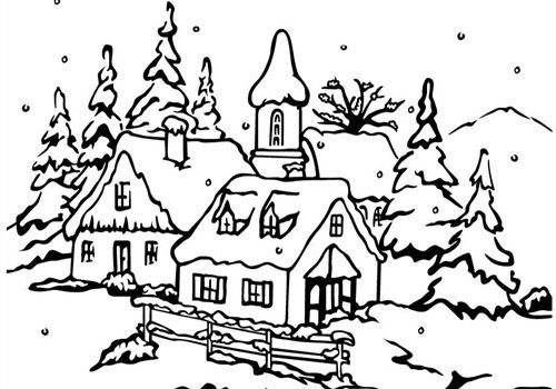 Nellie Snellen - Embossing Folder Christmas Peaceful Village 3