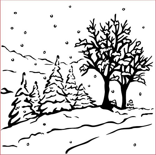 Nellie Snellen - Embossing Folder Christmas Winter landscape