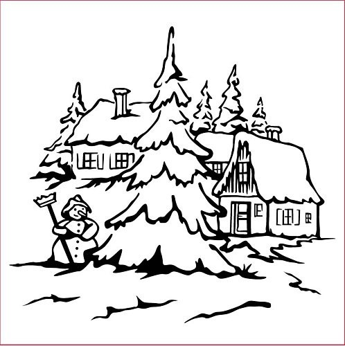Nellie Snellen - Embossing Folder Christmas Snowman 2
