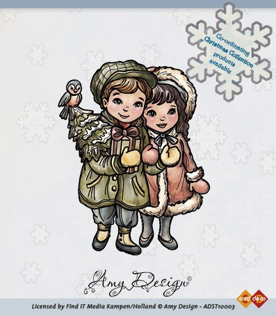 Amy Design - Clearstamp - Christmas couple