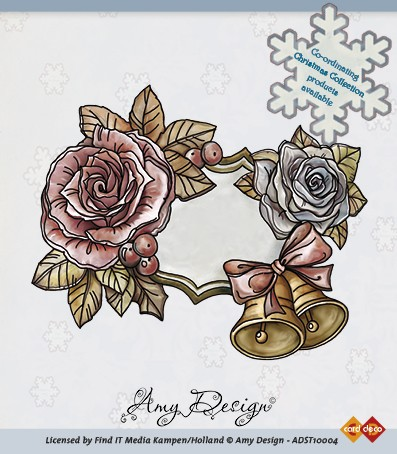 Amy Design - Clearstamp - Roses and bells