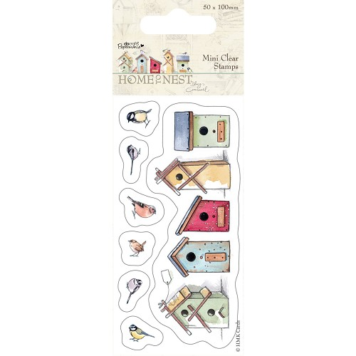 DoCrafts - Mini Clear Stamp - Home To Nest Lucy Cromwell - Birdhouses