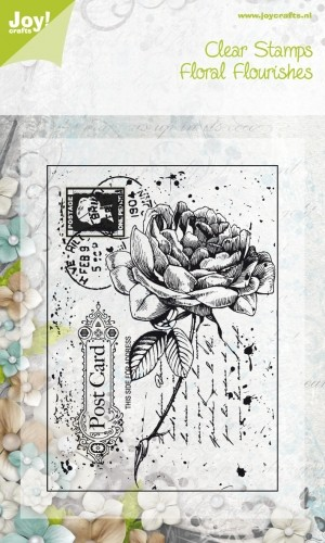 Joy!Crafts - Clearstamp - Old Letter Rose 2