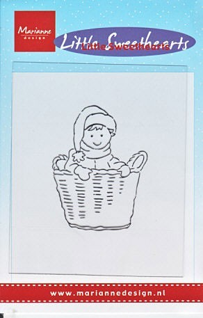 Marianne Design - Clearstamp - Little Sweethearts Basket