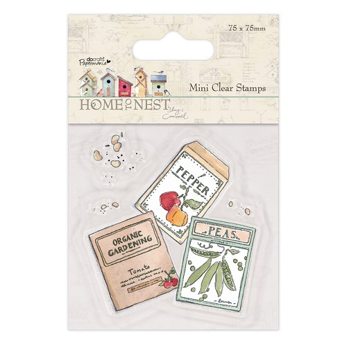 DoCrafts - Mini Clear Stamp - Home To Nest Lucy Cromwell - Seed Packets