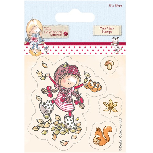 DoCrafts - Mini Clear Stamp - Tilly Daydream - Leaves