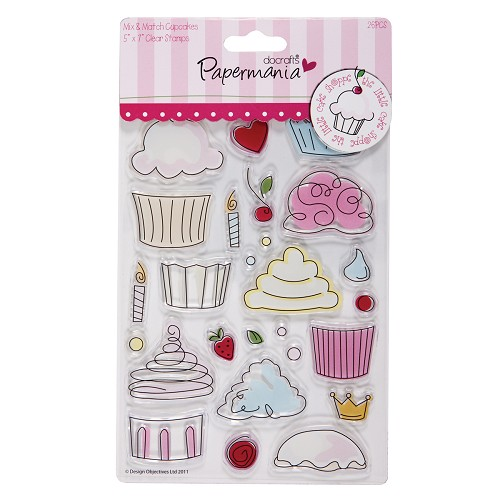 DoCrafts - Clear Stamp - Little cake shoppe - Cupcakes