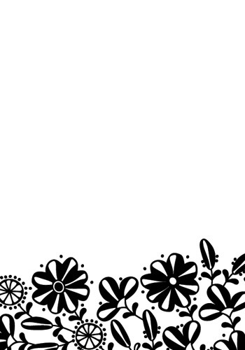 Hobby Solution - Embossing folder- Bloemen border