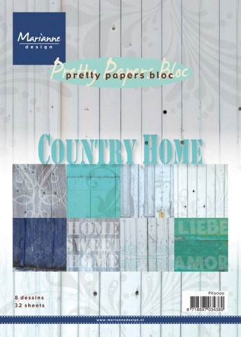 Marianne Design - Pretty Papers Bloc - Country Home