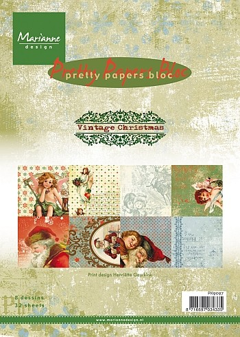 Marianne Design - Pretty Papers Bloc - Vintage Christmas