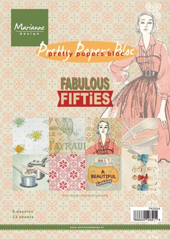 Marianne Design - Pretty Papers Bloc - Fabulous Fifties