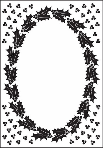 Nellie Snellen - Embossing Folder Christmas oval-1