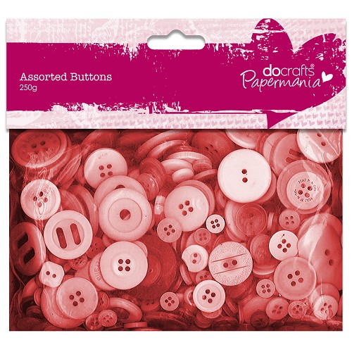 Assorted Buttons (250g) - Red