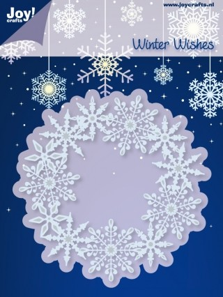 Joy!Crafts - Winter Wishes - Cutting & Embossing - IJskristallen in cirkel