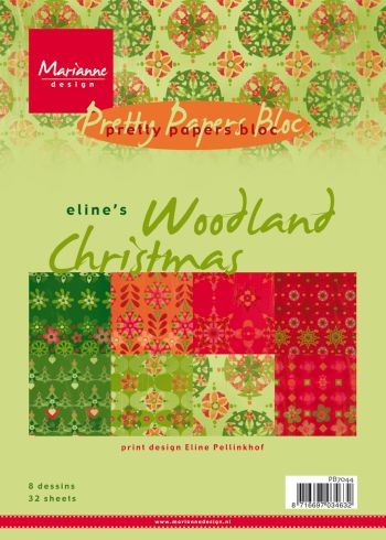 Marianne Design - Pretty Papers Bloc - Eline`s Woodland Christmas