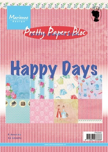 Marianne Design - Pretty Papers Bloc - Happy Days