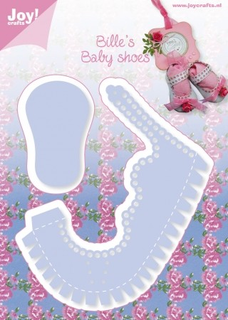 Joy!Crafts - Cutting - stencil Babyschoen Meisje